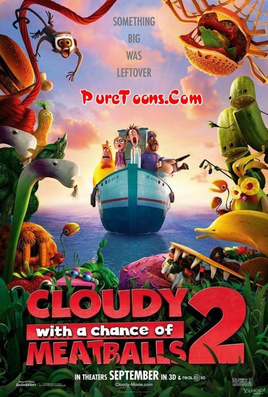 Cloudy with a Chance of Meatballs 2 (2013) in Hindi Dubbed Full Movie Free Download Mp4 & 3Gp