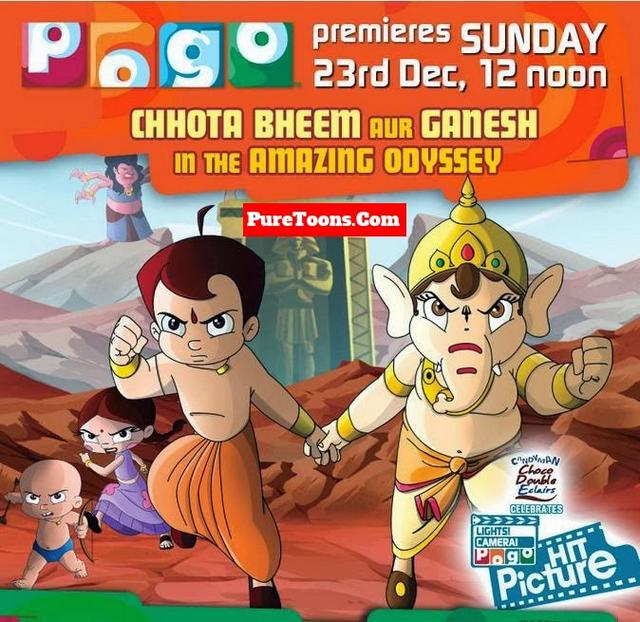 Chhota Bheem and Ganesh in the Amazing Odyssey Hindi full Movie free Download Mp4 & 3Gp